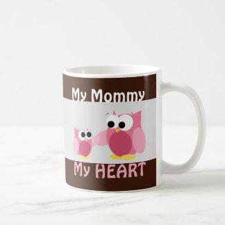 Búhos - mi mamá, mi CORAZÓN - taza del día de madr
