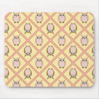 Búhos Mousepad - rosa del cuarto de niños