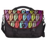 Búhos multicolores bolsa de ordenador