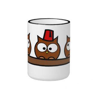 Búhos peculiares - el Dr. T'Wit T'Who Tazas De Café
