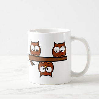Búhos peculiares taza de café