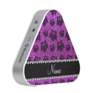 Búhos púrpuras de neón conocidos personalizados altavoz bluetooth