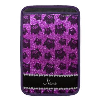 Búhos púrpuras de neón conocidos personalizados de funda  MacBook