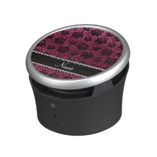 Búhos púrpuras personalizados del brillo del altavoz