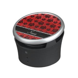 Búhos rojos de neón conocidos personalizados del altavoz bluetooth