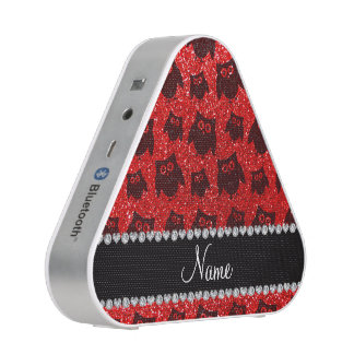 Búhos rojos de neón conocidos personalizados del altavoz