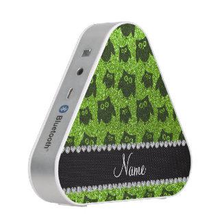 Búhos verdes de neón conocidos personalizados del altavoz bluetooth