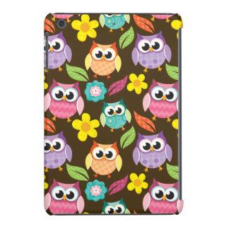 Búhos y flores modelados coloridos carcasa para iPad mini