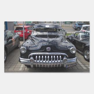 Buick 1950 ocho estupendos rectangular pegatinas
