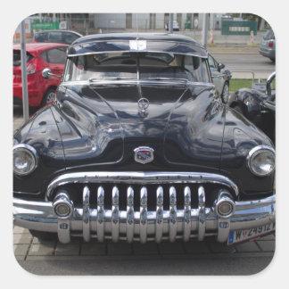 Buick 1950 ocho estupendos calcomanía cuadrada