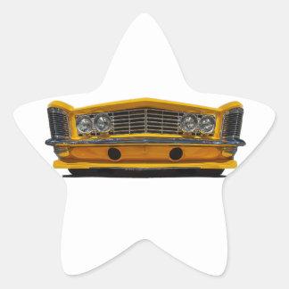 Buick amarillo pegatina en forma de estrella