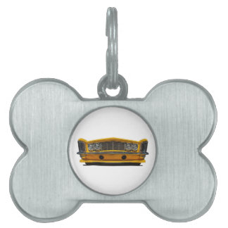 Buick amarillo placa mascota
