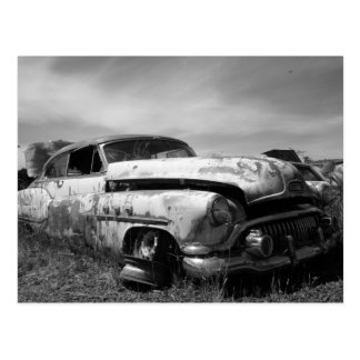 Buick Car In a Junkyard Postcard