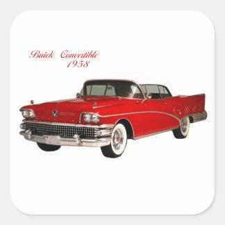 Buick Convertible 1958 Square Sticker