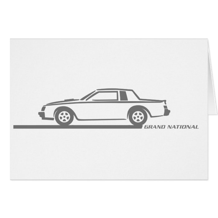 Buick Grand National Grey Car Card