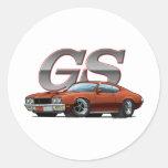 Buick GS_brown Etiquetas Redondas