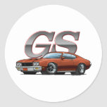 Buick GS_brown Round Stickers