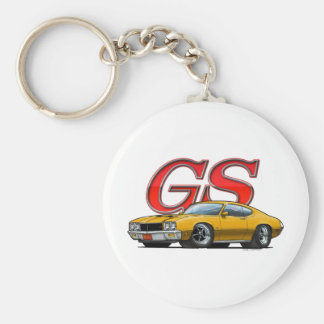 Buick GS_gold Basic Round Button Keychain