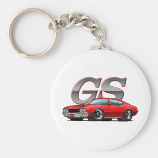 Buick GS_red Basic Round Button Keychain