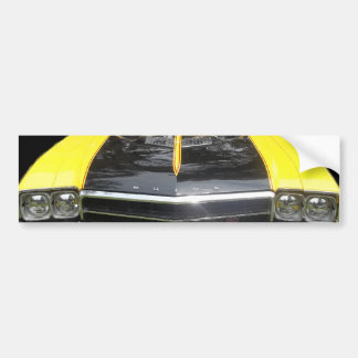 Buick GS Yellow four headlight racing stripes Bumper Stickers