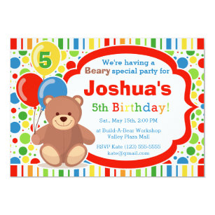 Build A Bear Invitations Announcements Zazzle