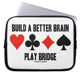 Build A Better Brain Play Bridge (Four Card Suits) Laptop Sleeve