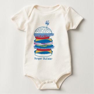Build a Burger art Baby Bodysuit