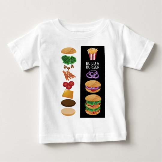 Build A Burger Baby T-Shirt