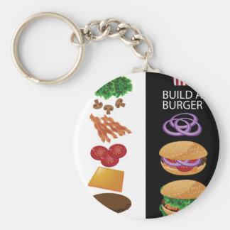 Build A Burger Keychain