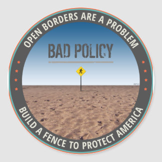 Build A Fence Classic Round Sticker