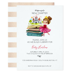 Build a library baby shower invitations zazzle build a library baby shower baby girl invitation filmwisefo