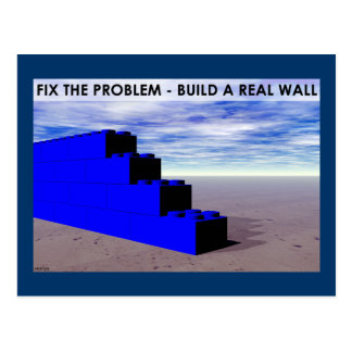 Build A Real Wall Postcard