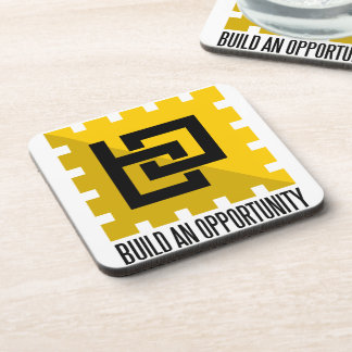 build an opportunity beverage coaster