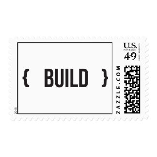 Build - Bracketed - Black and White Postage