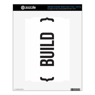 Build - Bracketed - Black and White Decal For The NOOK