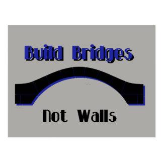 Build Bridges not Walls Protest AntiTrump Postcard