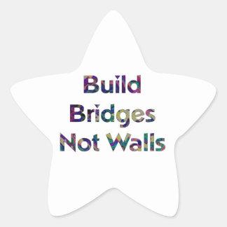 Build Bridges not Walls sticker