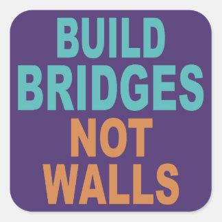 """""""Build Bridges Not Walls"""" stickers"""
