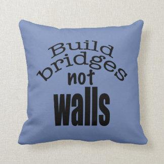 Build bridges not walls throw pillow