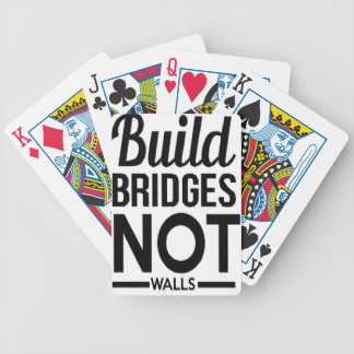 Build Bridges NOT Walls - USA Protest Immigrants Bicycle Playing Cards