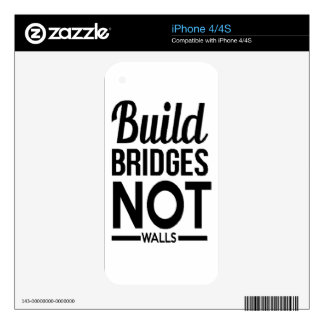 Build Bridges NOT Walls - USA Protest Immigrants Decal For iPhone 4