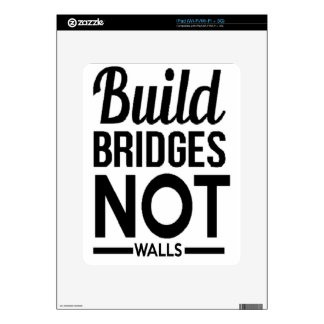 Build Bridges NOT Walls - USA Protest Immigrants Decals For iPad