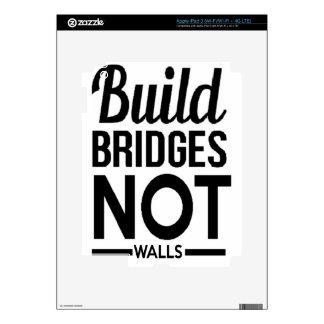 Build Bridges NOT Walls - USA Protest Immigrants iPad 3 Decal