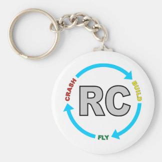 Build Crash Fly RC Basic Round Button Keychain