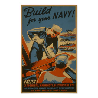 Build for your Navy! : Enlist! Carpenters Poster