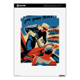 Build for your Navy! iPad 3 Decal