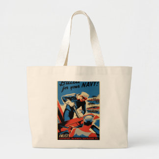 Build for your Navy! Large Tote Bag