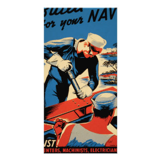 Build for your Navy! Photo Card