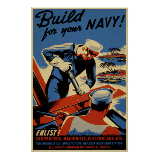 Build for your Navy! Poster