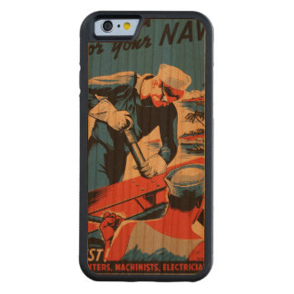 Build for your Navy! Carved® Cherry iPhone 6 Bumper Case